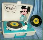 Mickey Mouse Record Player (with Records)