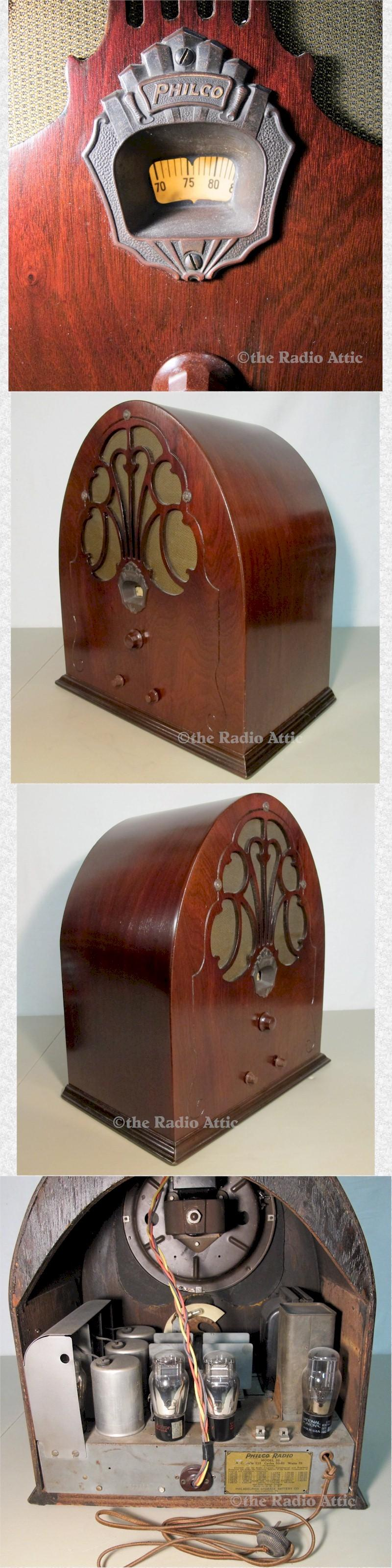 "Philco 20 ""Baby Grand"" Cathedral (1930)"