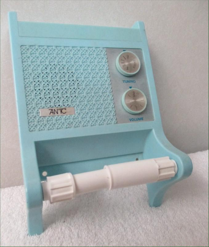 Toilet Paper Holder Novelty Radio