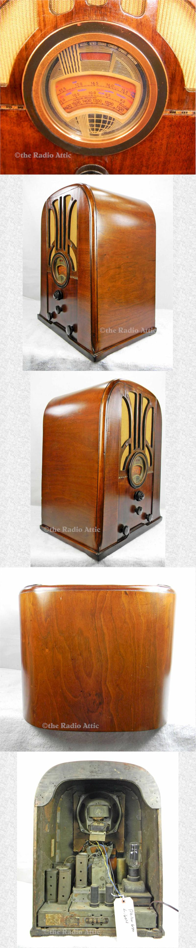 Philco 37-650 Tombstone (1937)