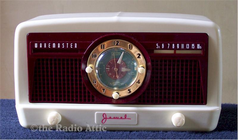 "Jewel 5057U ""Wakemaster"" Clock Radio (1950)"