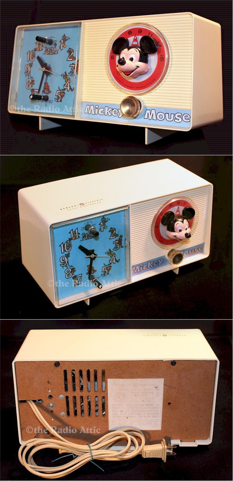 "General Electric C2418A ""Mickey"" Clock Radio (1960)"