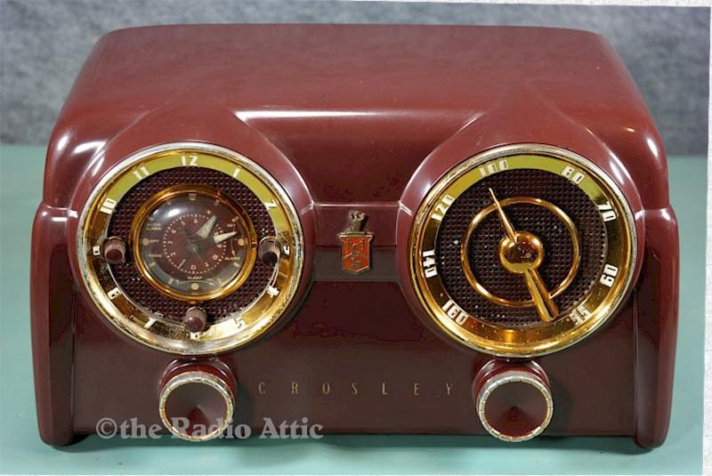 "Crosley 11-123U ""Dashboard"" Clock Radio (1951)"
