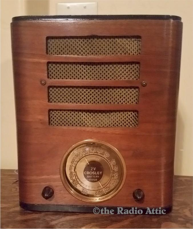 "Crosley ""Battery Fiver"" Tombstone (1937)"