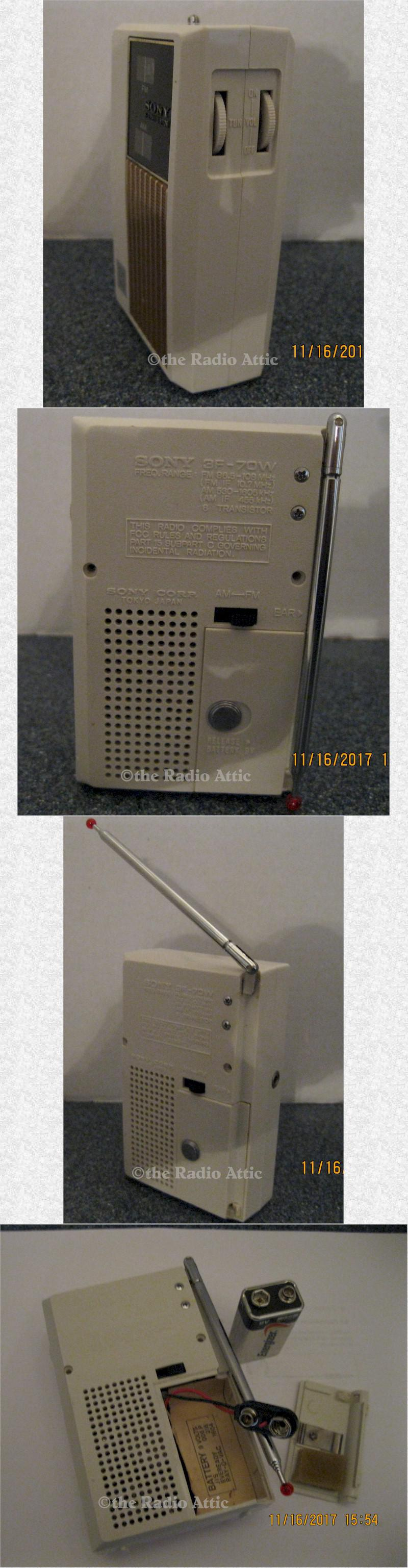 Sony 3F-70W AM/FM Pocket Transistor (1975)