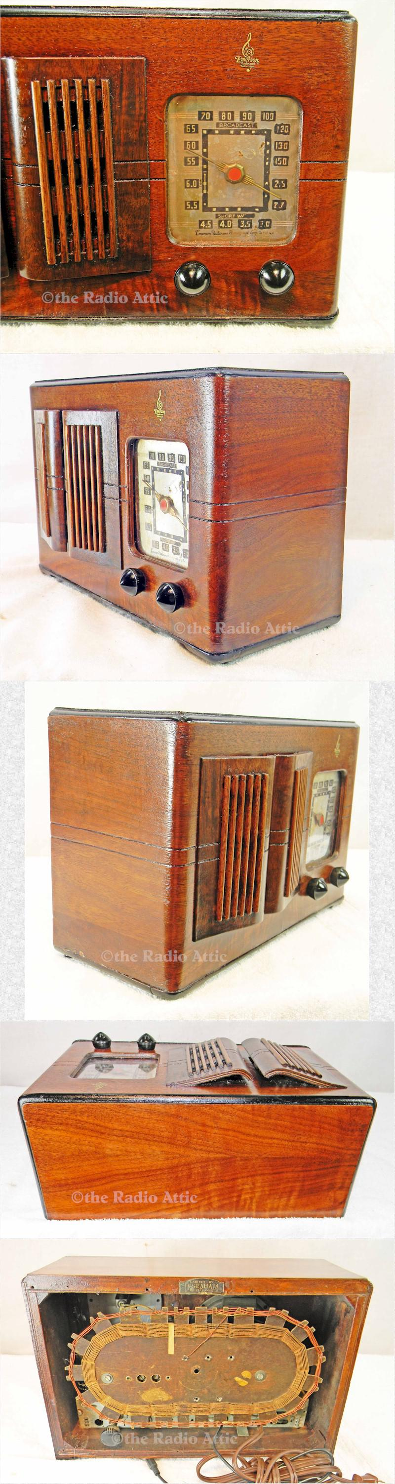 Emerson CR-261 w/Ingraham Cabinet (1937)