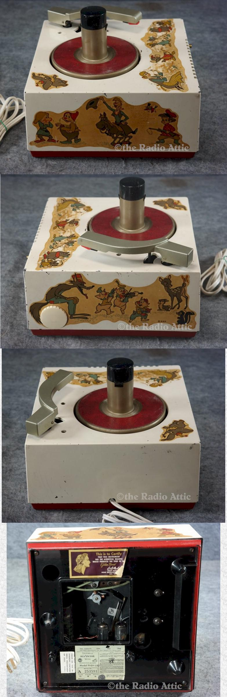 RCA 9-EY-35U 45rpm Player w/Disney Characters (1955)