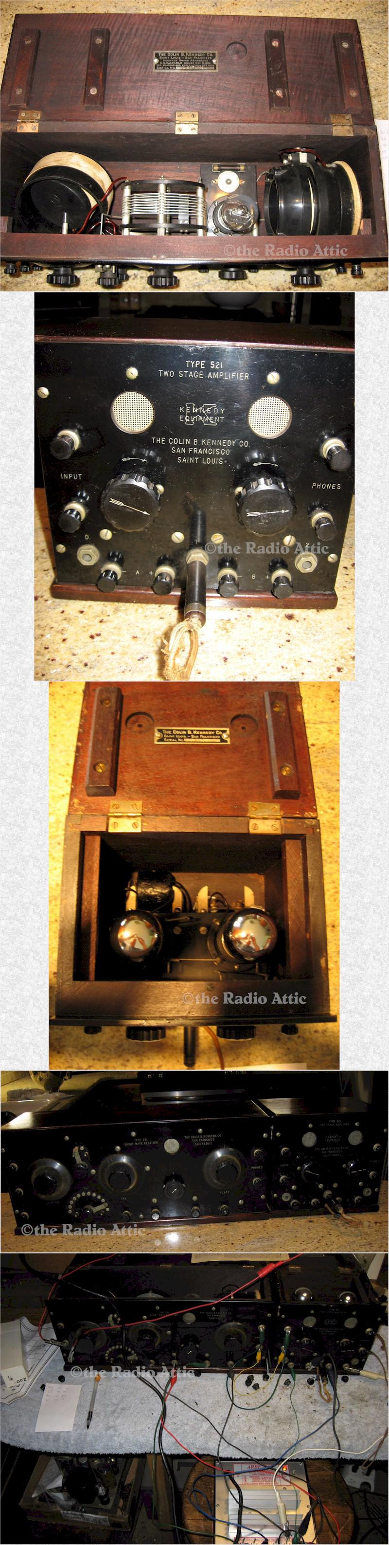 Colin B. Kennedy 281/521 Receiver with Amp (1921)