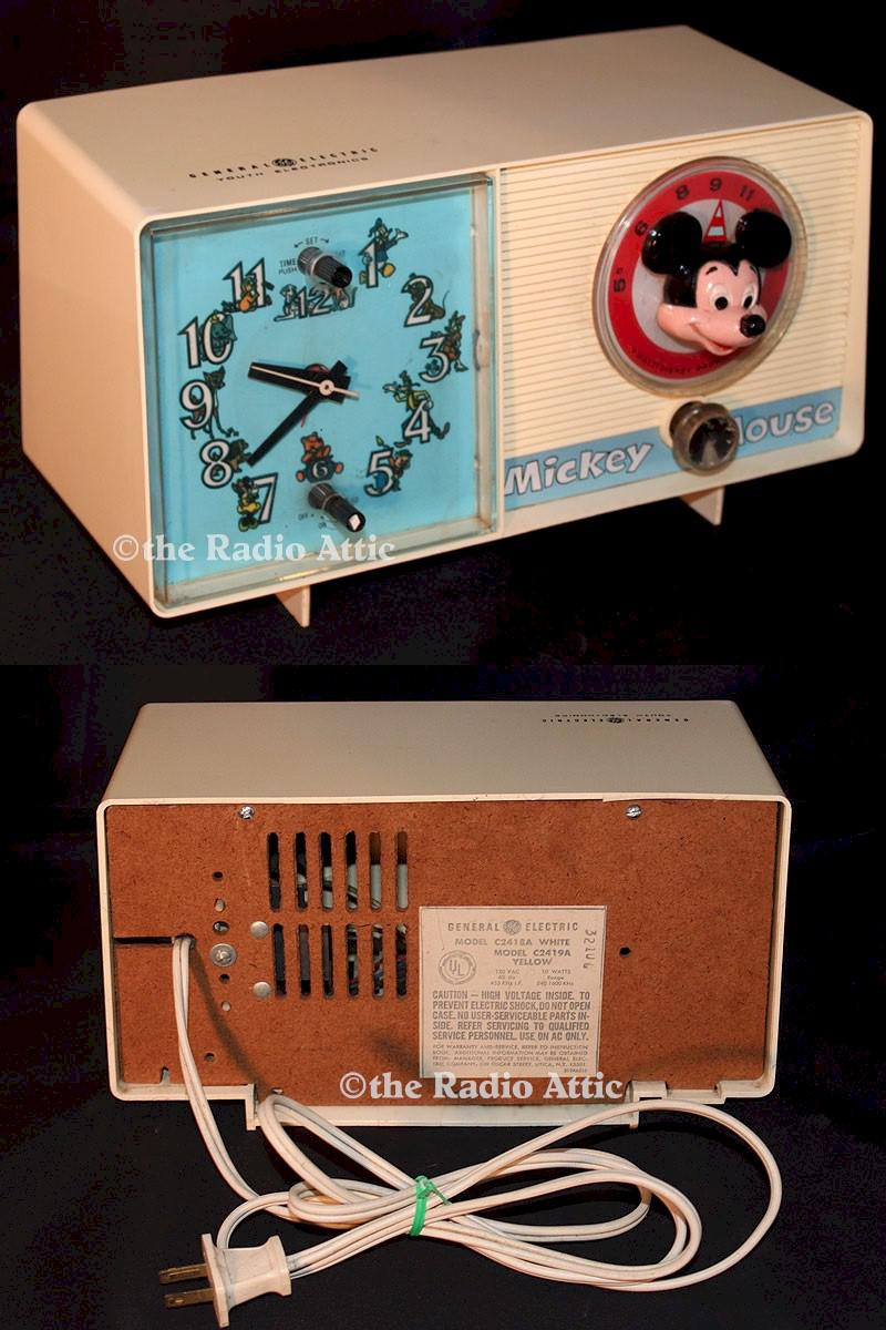 "General Electric C-2418A ""Mickey Mouse"" Clock Radio (1960)"