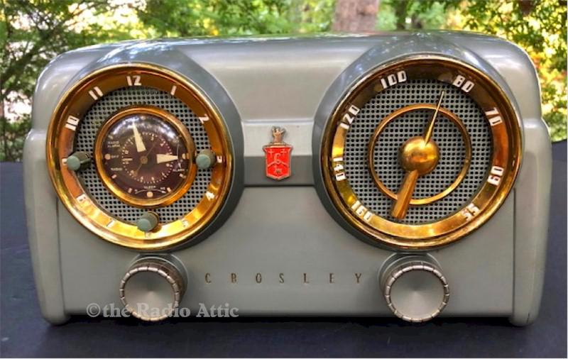 Crosley D-25-GN Clock Radio (1953)