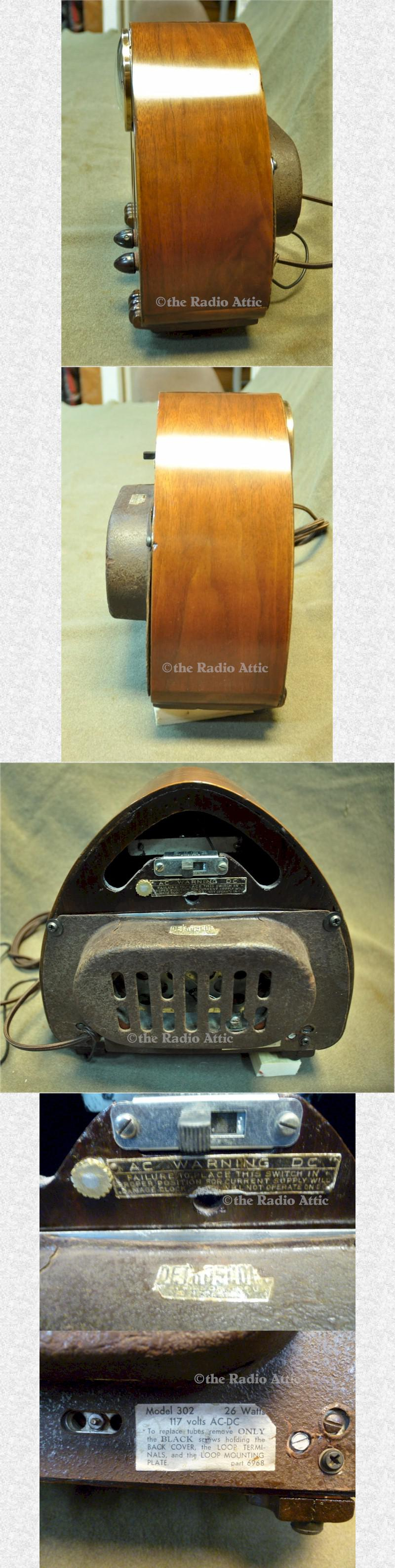 Detrola 302 Clock Radio (1939)